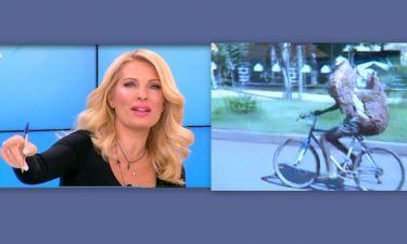 Ελένη: «Τρελάθηκε» με τα πρόβατα που κάνουν ποδηλατάδα!