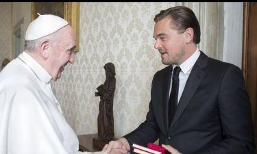 Επίσκεψη του Ντι Κάπριο στο Βατικανό και συνάντηση με τον πάπα Φραγκίσκο