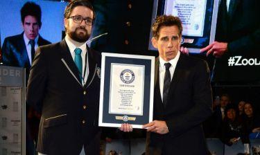 Ο Ben Stiller έχει το πιο μακρύ… κοντάρι για selfies και μπήκε στο βιβλίο Guiness!