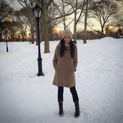 Ιωάννα Τριανταφυλλίδου: Ευτυχισμένη στο χιονισμένο Central Park
