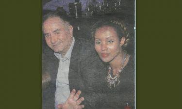 Ο Θόδωρος Κατσανέβας με την κόρη του και τη φίλη του από την Αιθιοπία