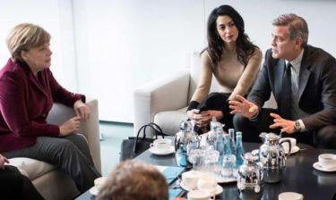 Όταν ο Clooney συνάντησε την Merkel!