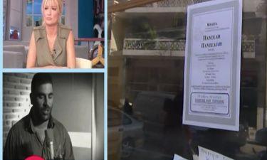 Παντελής Παντελίδης: Το κηδειόσημο που επικολλήθηκε έξω από την καφετέρια του αδερφού του