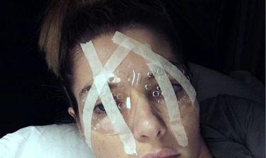 Έκανε επέμβαση λέιζερ στα μάτια για τη μυωπία της!