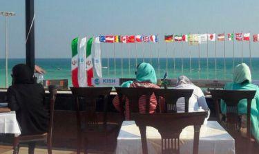 Ιράν: Οι γυναίκες είδαν το μπιτς βόλεϊ από τη βεράντα μιας καφετέριας