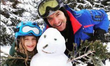 O Σάκης, η Αναστασία και ο… χιονάνθρωπος