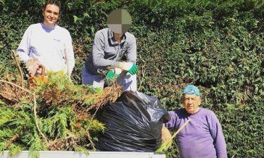 Ο ηθοποιός το έριξε στην κηπουρική με τον πατέρα και τον αδελφό του
