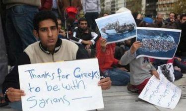 Τα προσφυγόπουλα μαθαίνουν ελληνικά με τη βοήθεια εθελοντών