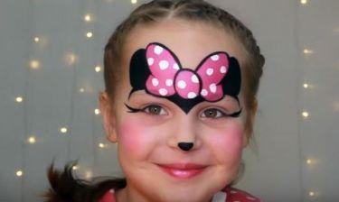 Απόκριες 2016: Minnie Mouse facepainting για κορίτσια (βίντεο)