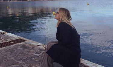 Νέα φωτογραφία από το ταξίδι της Ηλιάκη με τον σύντροφό της στη Χίο