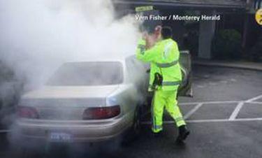 Καλιφόρνια: Παιδιά σώζονται από φλεγόμενο όχημα