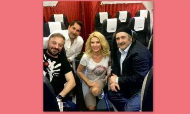 Ελένη Μενεγάκη: Οι φωτογραφίες της στο Instagram από την πτήση της επιστροφής στην Αθήνα