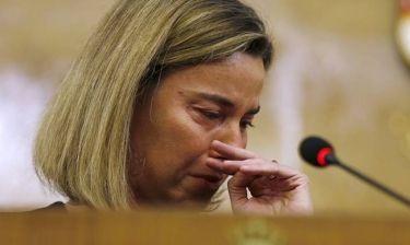 Δάκρυσε η Μογκερίνι στο άκουσμα των επιθέσεων (pics)
