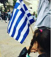 Μαρία Κορινθίου: Με την κόρη της στη παρέλαση