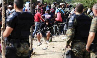 Η Αστυνομία μπλόκαρε τον δρόμο για την Ειδομένη