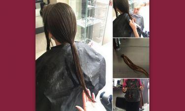 Δώρισε τα μαλλιά της η κόρη του…