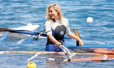 Ελεονώρα Μελέτη: Έχει γίνει εξπέρ στο wind surf