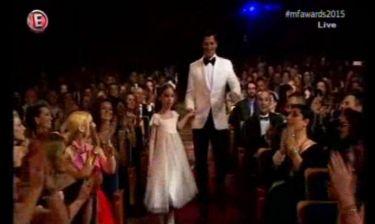 Σάκης Ρουβάς: Αυτό το κοριτσάκι του έκλεψε την καρδιά στα βραβεία Madame Figaro