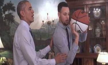 Ο Μπαράκ Ομπάμα μαθαίνει μπάσκετ στον... Στεφ Κάρι