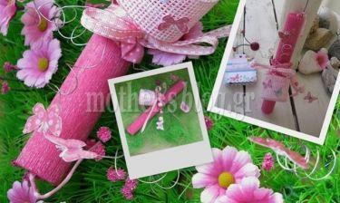 Φτιάξτε μόνη σας χειροποίητη λαμπάδα με πεταλούδες του αγρού (εικόνες βήμα-βήμα)