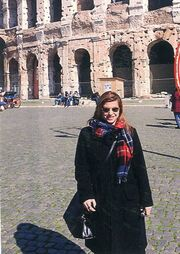 Η Ραλλία Χρηστίδου στη Ρώμη