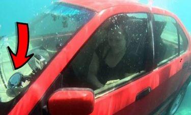 Απίστευτο: Αν βρίσκεστε σε αμάξι που βυθίζεται δείτε τι πρέπει να κάνετε για να σωθείτε… (video)