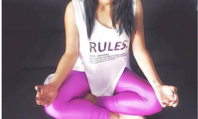 Στιγμές χαλάρωσης κάνοντας yoga για την…