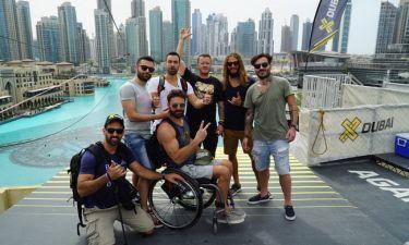 World Party: Ο Σάκης Τανιμανίδης και ο Γιώργος Μαυρίδης στο Ντουμπάι