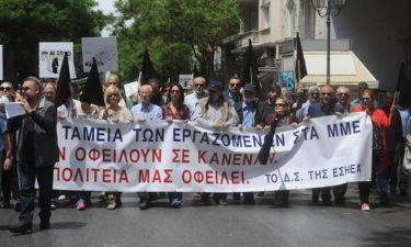 Συλλαλητήριο της ΕΣΗΕΑ ενάντια στο ασφαλιστικό νομοσχέδιο
