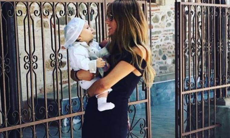 Ελένη Τσολάκη: Στην βάπτιση του ανιψιού της