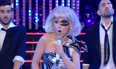 Απίστευτο! Η «Lady Gaga» στο πλατό του «Your face sounds familiar 3»