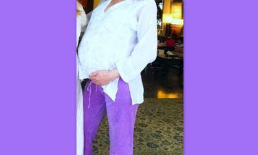 Φωτογραφίζεται στον 9ο μήνα της εγκυμοσύνης της ανήμερα της ονομαστικής της γιορτής!