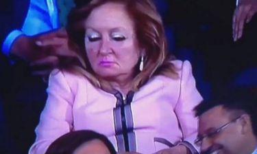 Η κυρία Προέδρου… αποκοιμήθηκε στον τελικό! (video)