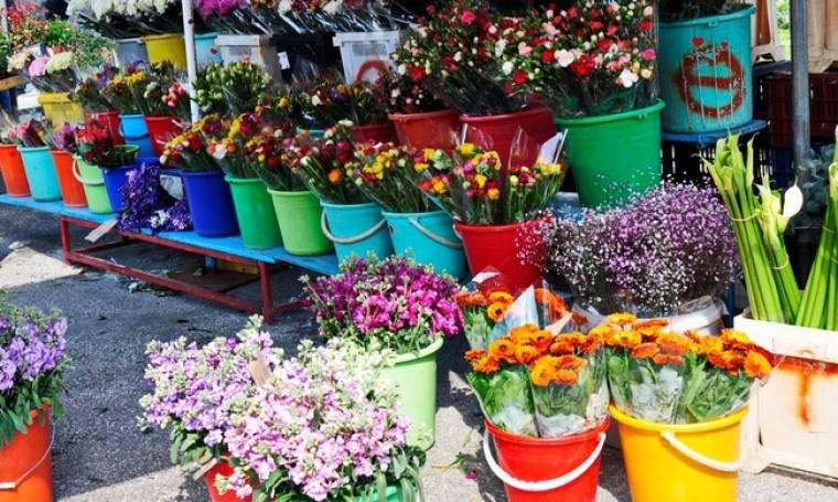 Σύζυγος Βουλευτή πουλάει λουλούδια στην λαϊκή