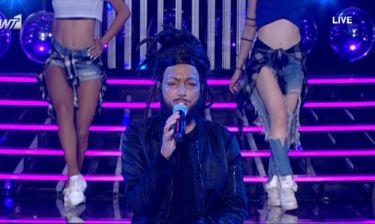 YFSF 3: Η Καρακάση «τρόμαξε» τους κριτές με το βλέμμα της ως Weeknd