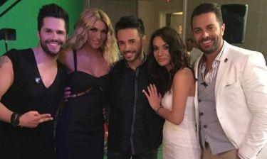 Ο Κώστας Μηλιωτάκης και οι φίλοι του στην εκπομπή του Χαρδαβέλλα