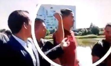 Σάλος με το θράσος του Ronaldo. Πέταξε το μικρόφωνο δημοσιογράφου σε λίμνη