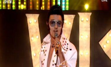 Δήμος Μπέκε: Ως Elvis Presley στον τελικό του YFSF