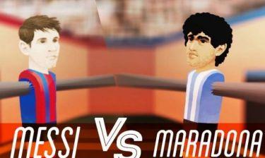 Διαλύει τον Μέσι η σύγκριση με Μαραντόνα (photos+videos)
