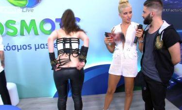 The X Factor: Προκλητική η Νωαίνα θέλησε να δείξει το μουστάκι της…