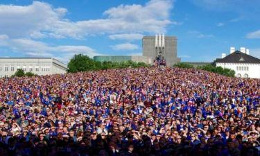 Euro 2016: Απίστευτη… κραυγή για τους «ήρωες» της Ισλανδίας (video)