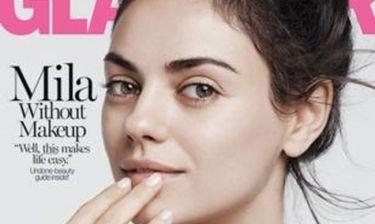 H Mila Kunis ποζάρει χωρίς μακιγιάζ και μιλά για τον Ashton Kutcher