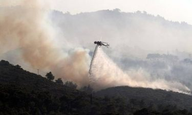 «Συναγερμός» στην Πυροσβεστική - Μεγάλη φωτιά στη Σάμο