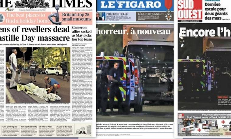 Τα πρωτοσέλιδα του διεθνούς Τύπου για το μακελειό στη Γαλλία