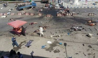 Ισχυρές εκρήξεις συγκλόνισαν την Καμπούλ κατά τη διάρκεια διαδήλωσης - 61 νεκροί και 207 τραυματίες