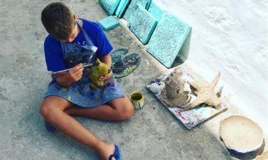 Τζένη Μπαλατσινού: To αστέρι της ζωγραφίζει και εκείνη το φωτογραφίζει