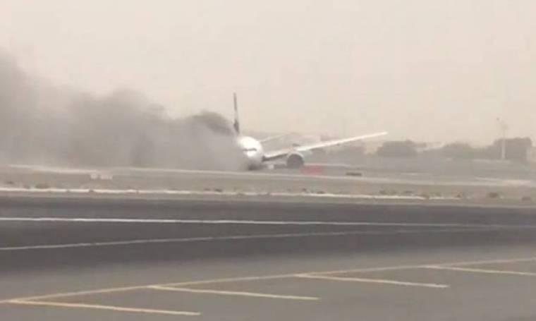 Βίντεο - σοκ από το Ντουμπάι: Η στιγμή της έκρηξης στο αεροσκάφος (photos)