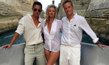 Kate Moss: Κάνει κρουαζιέρα στο Ιόνιο