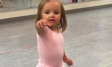 H κορούλα της ξεκίνησε μπαλέτο
