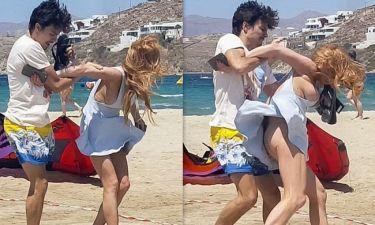 Δείτε για πρώτη φορά τις σοκαριστικές σκηνές βίας στο καβγά της Lohan με τον σύντροφό της στη Μύκονο